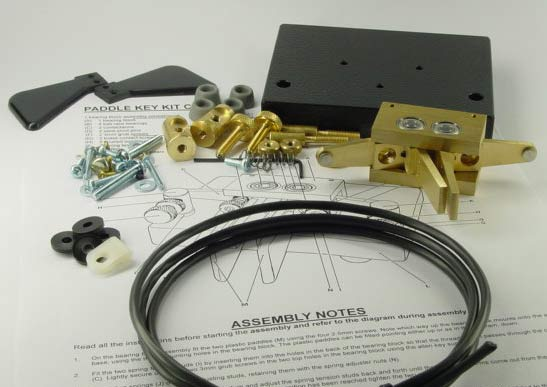 TPKK Kent Twin Paddle Brass Morse Key Kit